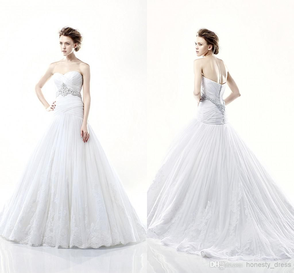 Wholesale a wedding dress buy elegant tulle and lace appliques