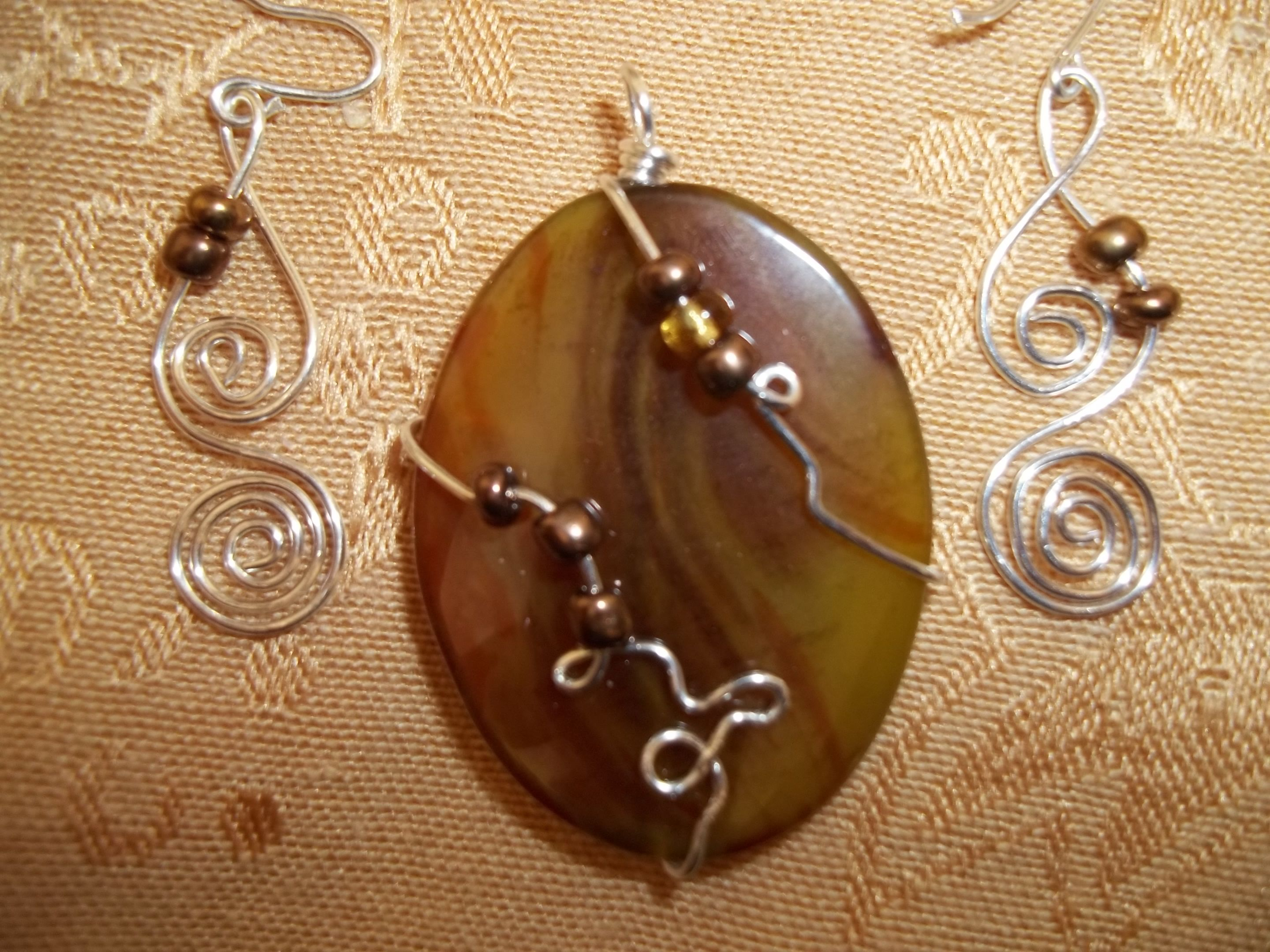sterling silver and natural stone