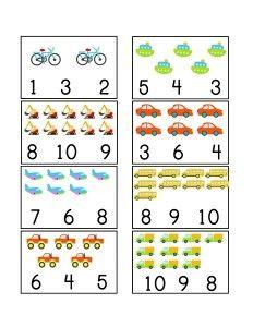 vehicles themed counting printables 1 shapes kindergarten preschool worksheets preschool. Black Bedroom Furniture Sets. Home Design Ideas