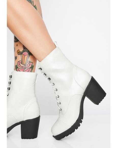 4f8bfa57d3 Idol Worship Charm Boots in 2019 | Shoes | Boots, Shoes, Black ...