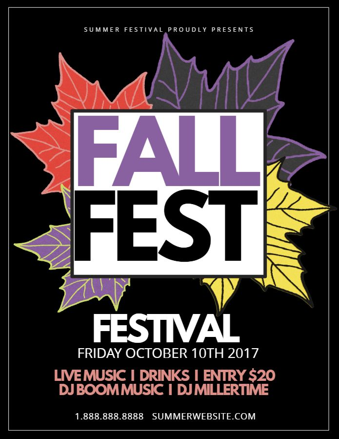 Fall Fest Flyer Template Autumnfall Posters Pinterest Fall