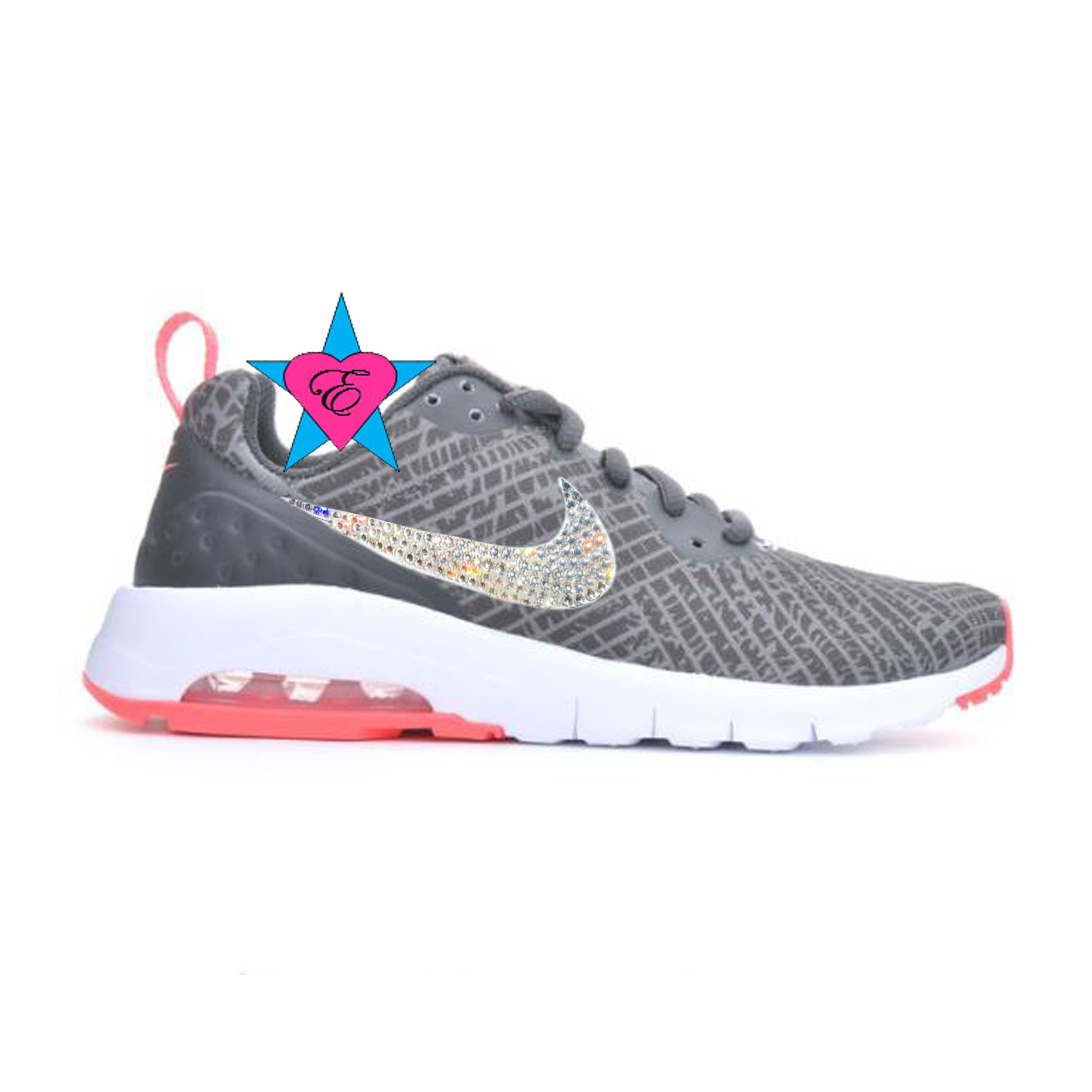 Rhinestone Sneakers for Girls | Crystal Bedazzled Gray Girls