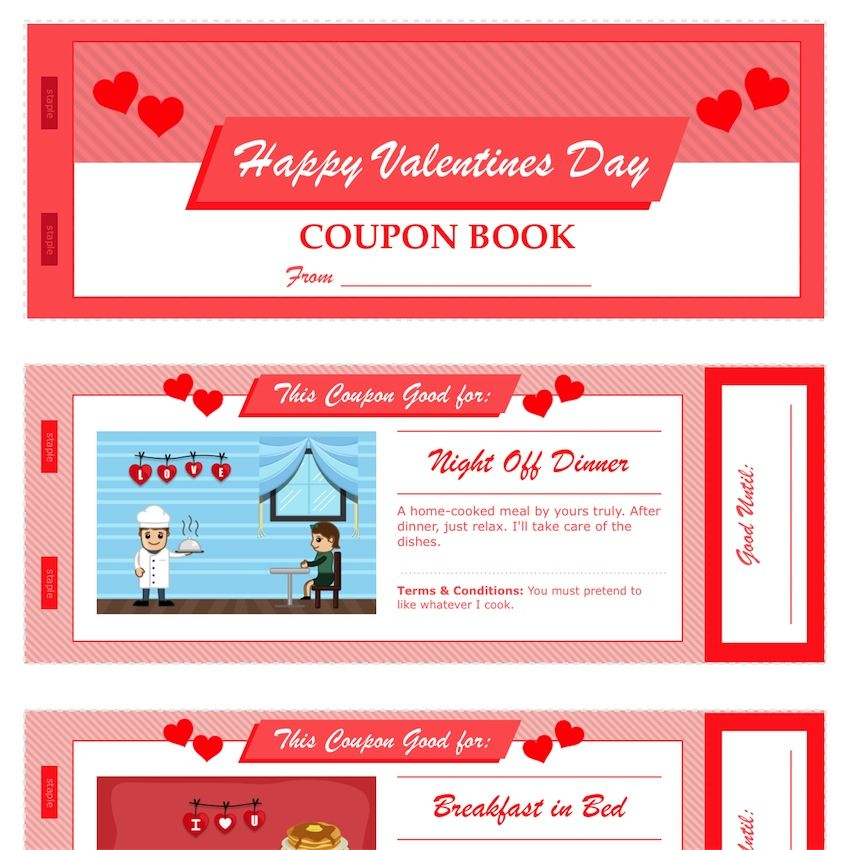 ValentineS Day Coupon Book Pdf Download  MactemplatesCom  Pdf