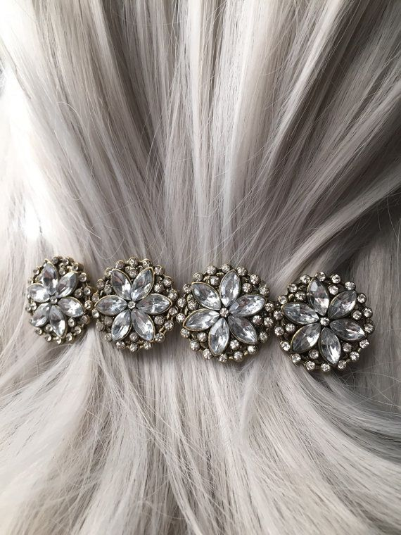 Flower Thick Hair Clip  Hair Clips For Women  by ArcanumByAerrowae