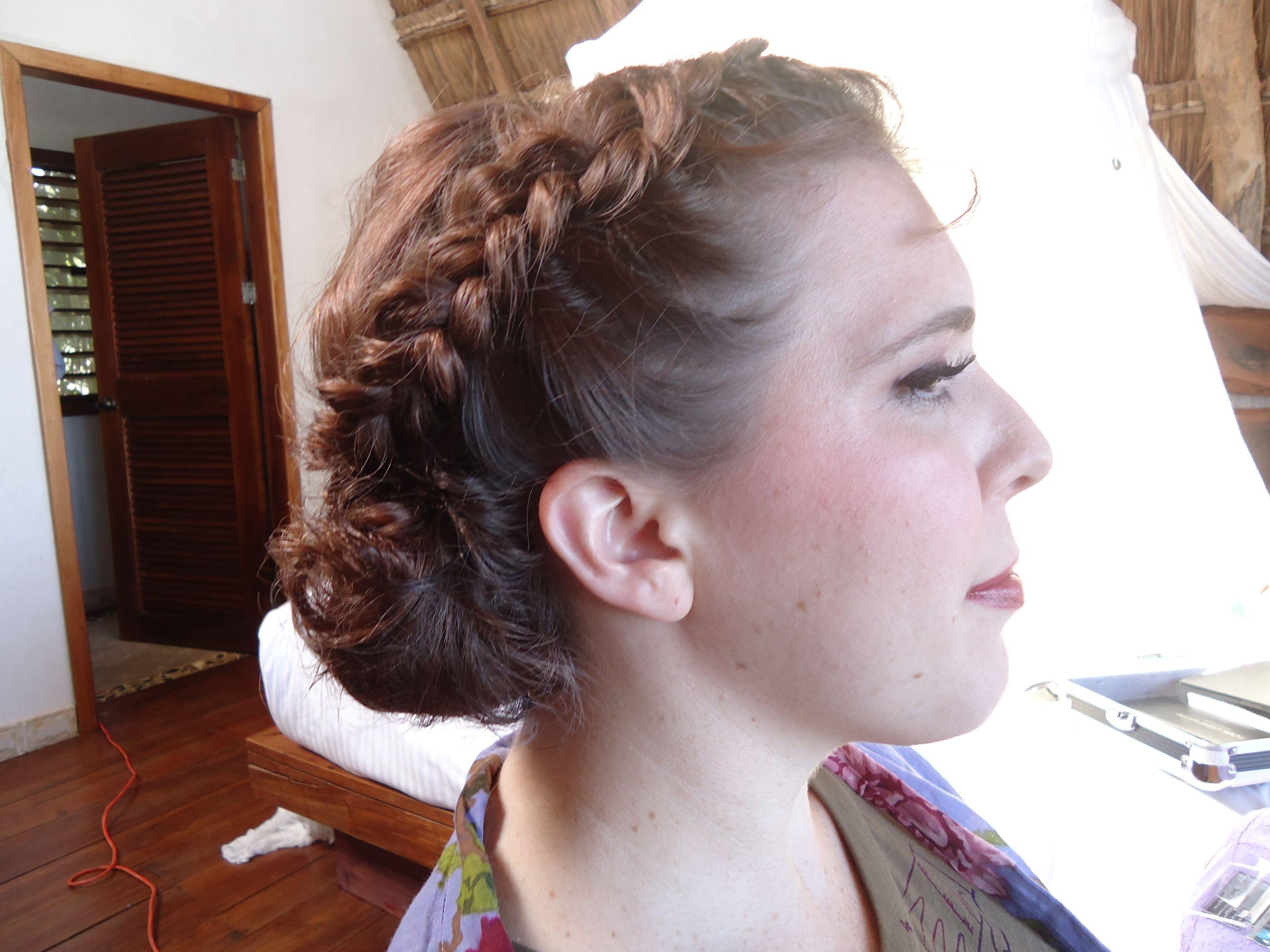 Boho braided side bun  Wedding hair by Alex Corbanezi  Pinterest