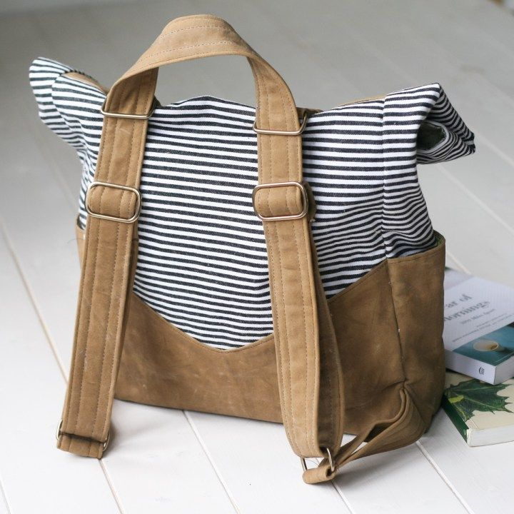 How to Make a Waxed Canvas Retro Rucksack | Pinterest