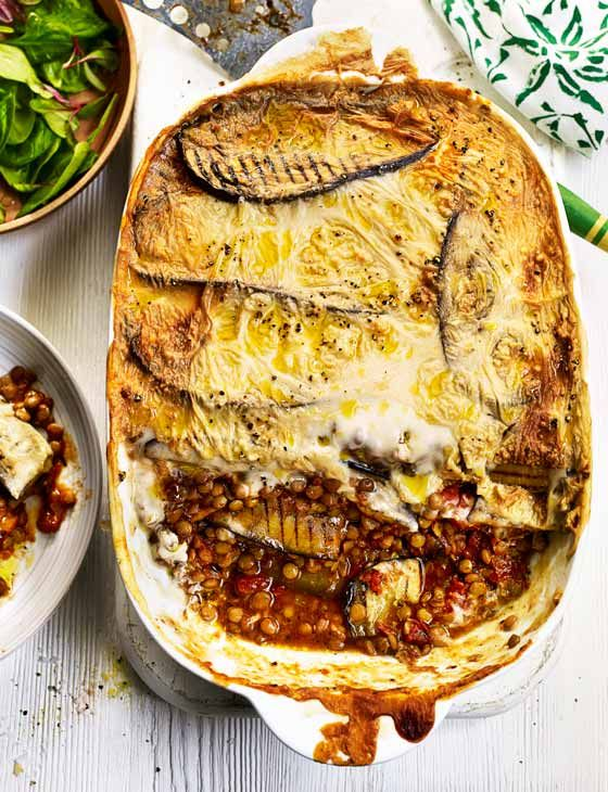 Sweet Potato And Aubergine Moussaka