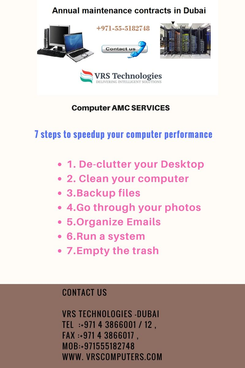 VRS Technologies Provides IT AMC Services In Dubai We Give Annual Maintenance Contracts For Computers And Servers