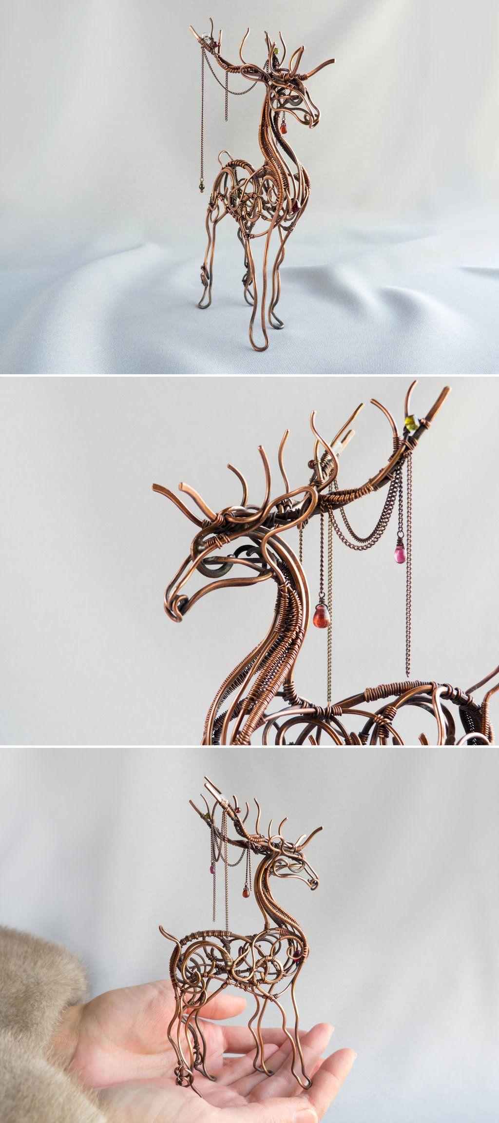 Deer Wire sculpture by UrsulaOT.deviantart.com on @DeviantArt ...