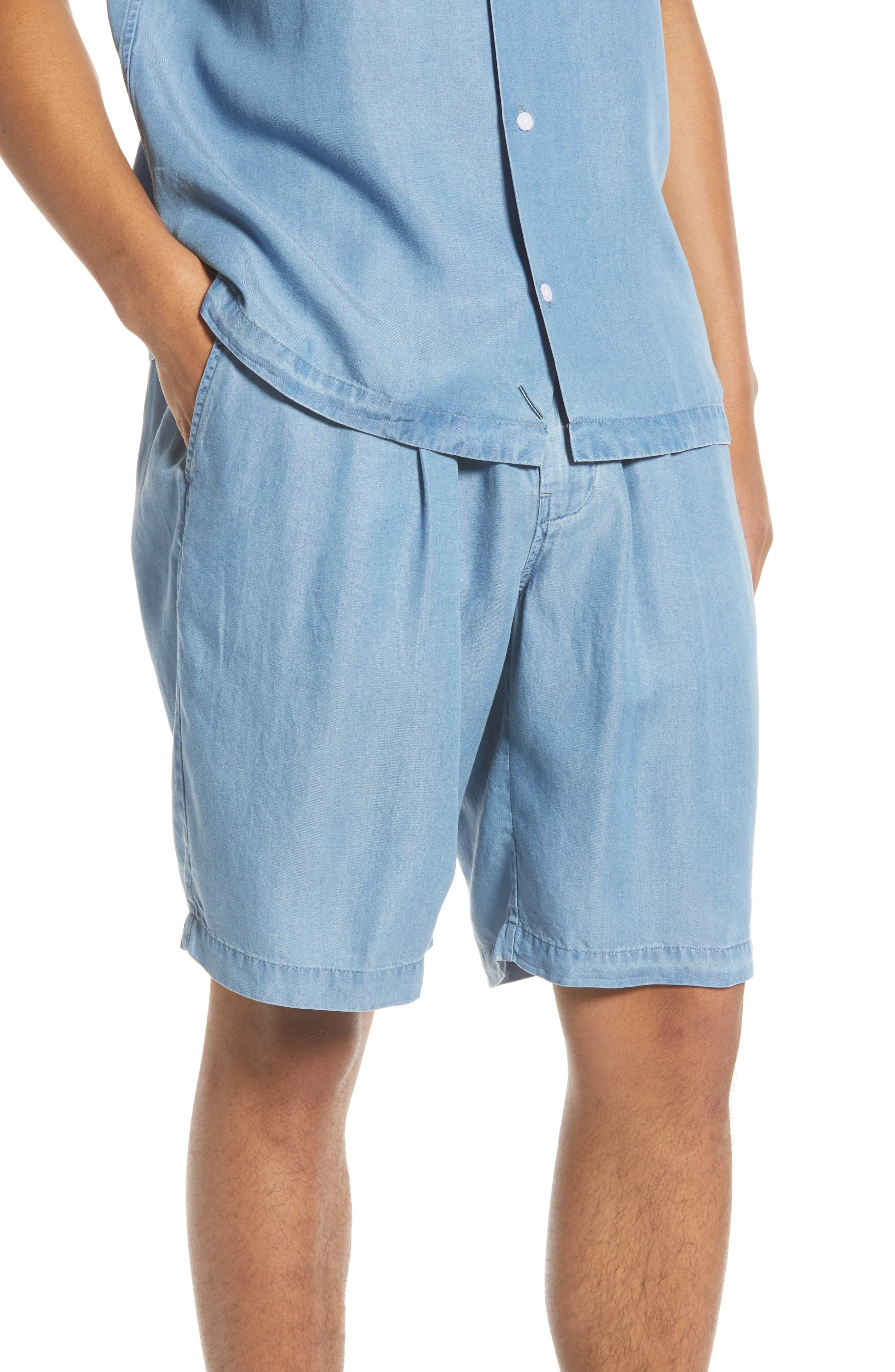 66bc26bb51 Men's Saturdays Nyc Keigo Chambray Shorts, Size Large - Blue in 2019 ...