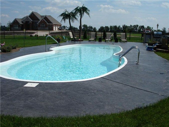 Grey Textured Charcoal Concrete Pool Decks A To Z Designer