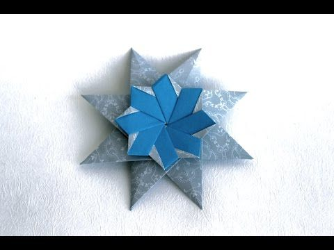 Origami christmas star 'Corona Grande' by Maria Sinayskaya - YouTube