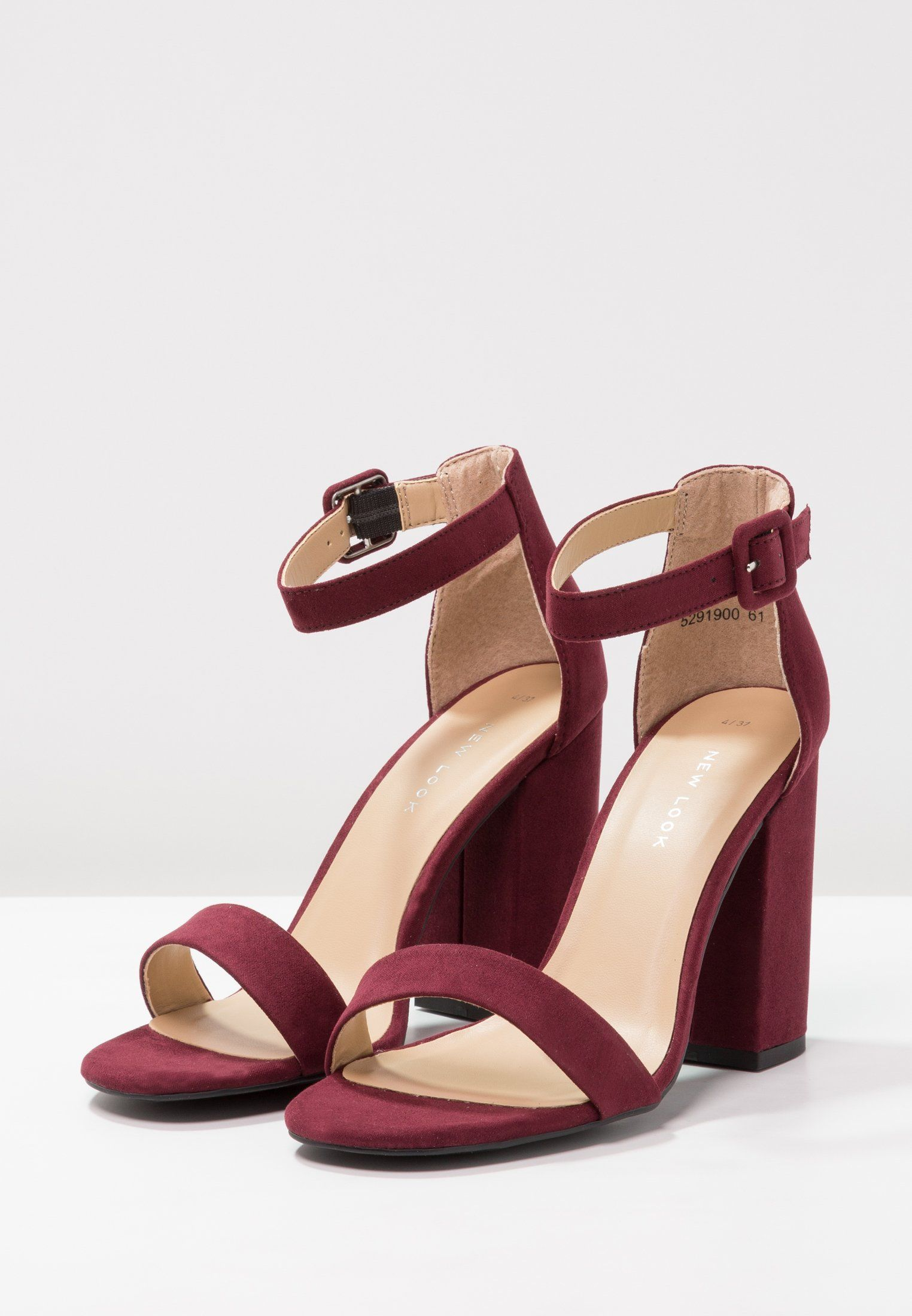 3cbdd159fdf4 New Look RICHES - Sandalen met hoge hak - dark red - Zalando.nl   my ...