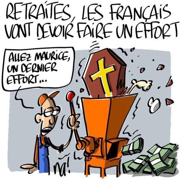 #dessin de @na_dessinateur #retraite #francais #effort #politique #gouvernement #lrem #enmarche #macron #macron1er #humour #cartoon #caricature #illustration Blagues Retraite, Pauvre France, Politique Francaise, Petite Blague, Scandale, Images Drôles, Rire, La Révolte, Caricature