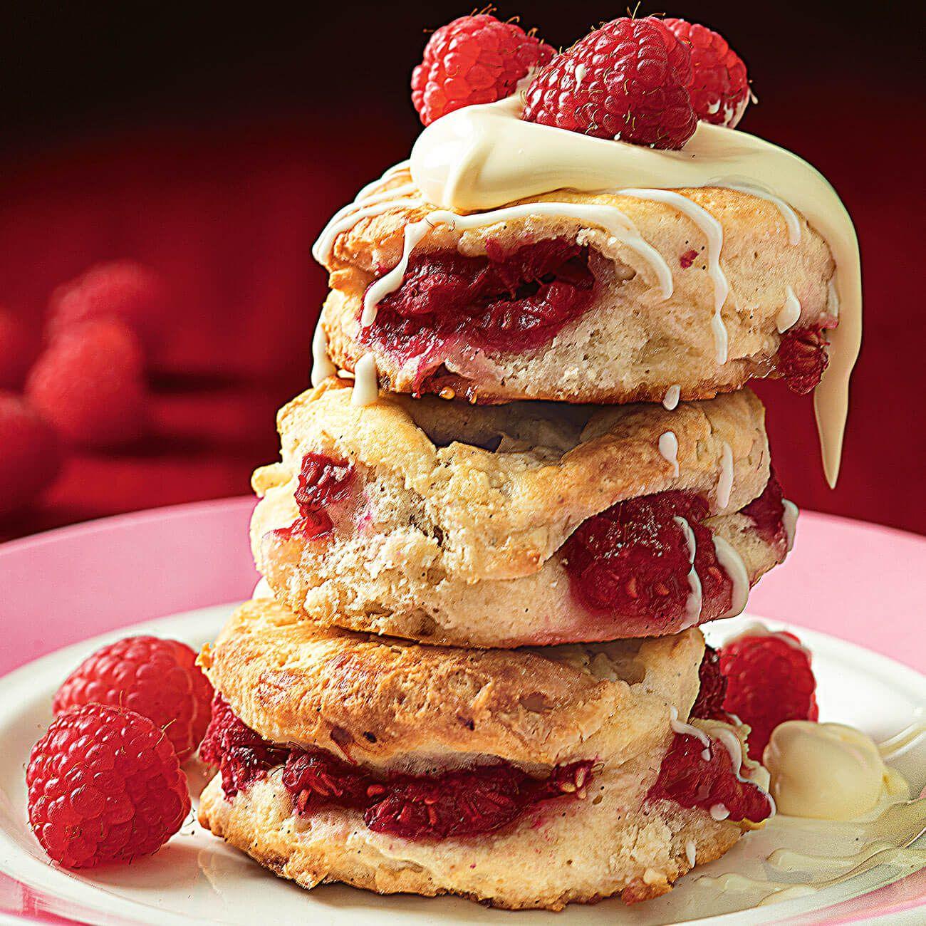 Raspberry Buttermilk Scones Recipe With Images Raspberry Scones Australian Desserts Scone Recipe