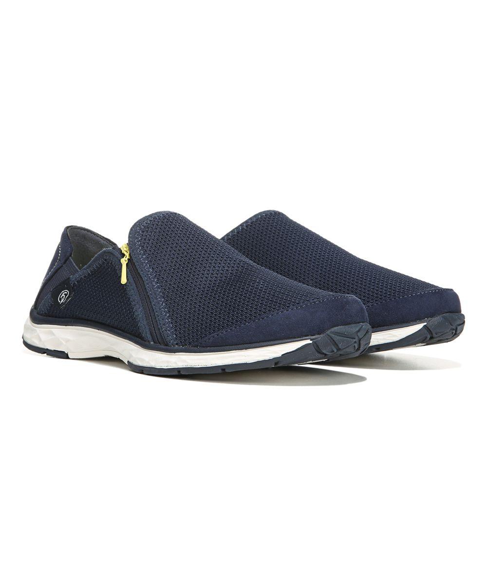 Navy Luna Anna Zip Walking Shoe