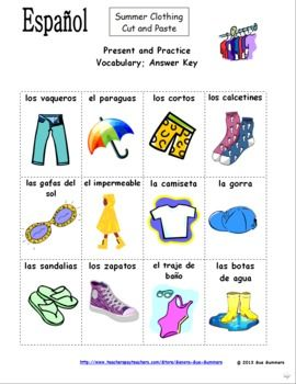 Clothing in Spanish: a basic list, patterns, examples & prices ...