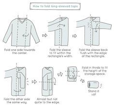 Marie Kondo Shows You How To Fold And Store A Shirt #foldingclothes