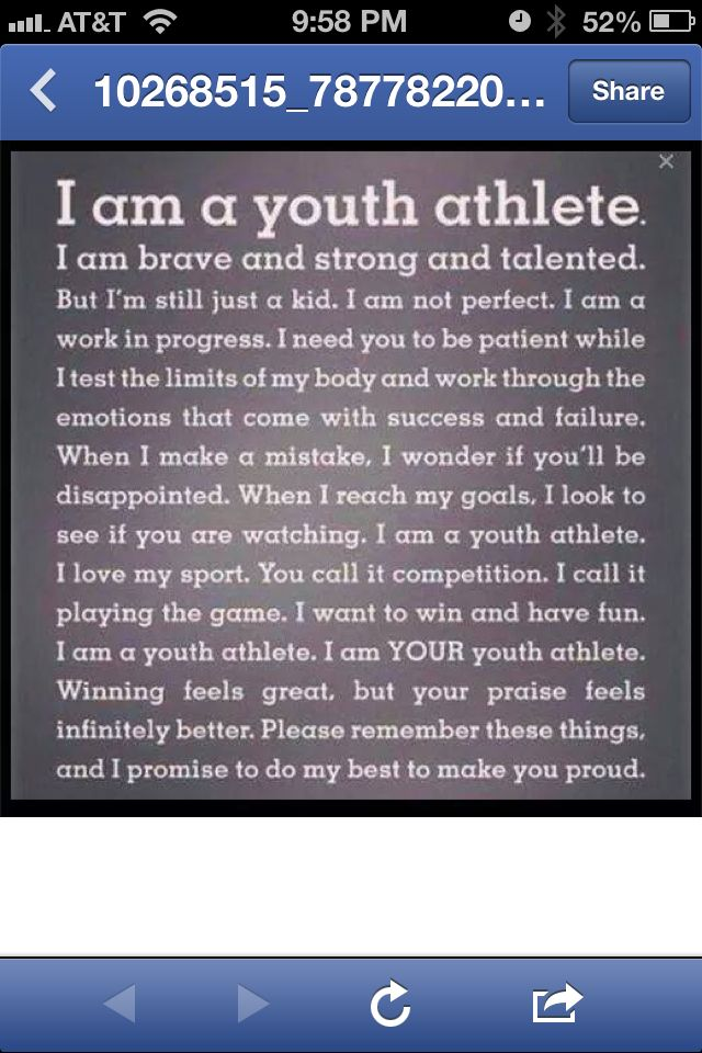 ❤ For our young athletes