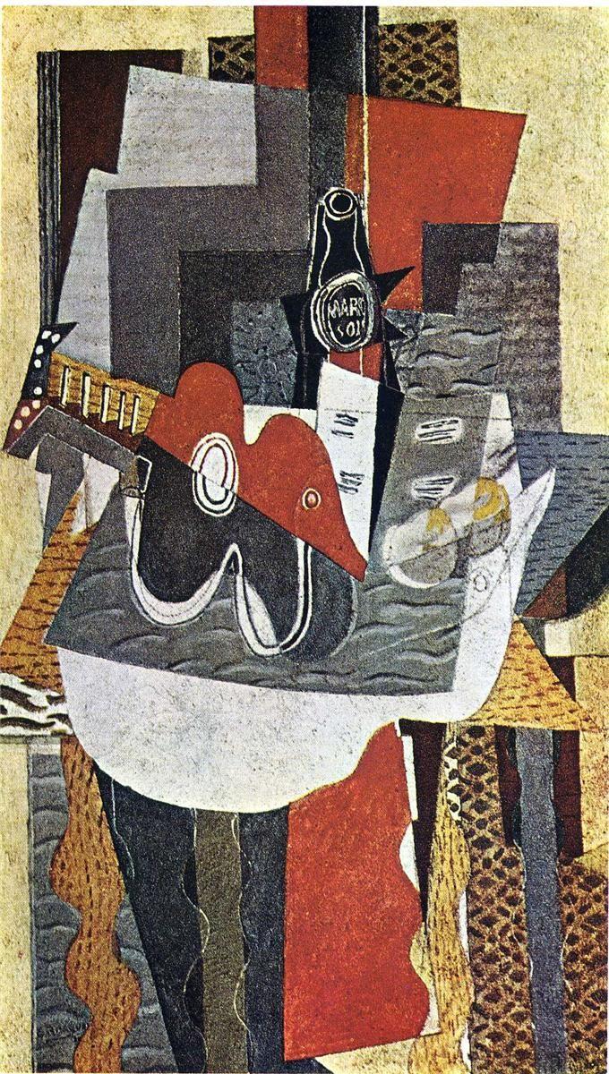 Genial Kubismus Künstler Galerie Von Georges Braque | The Bottle Of Marc