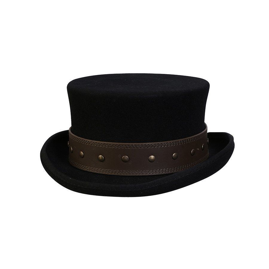 ce2a916b4dca37 Conner Hats Steampunk Hats Black / Small Rocky Road Steampunk Top Hat