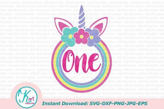 one unicorn svg, one svg file, 1st birthday svg, first
