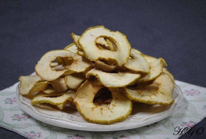 Hogar y Ocio: Chips de manzana (al horno), un picoteo saludable