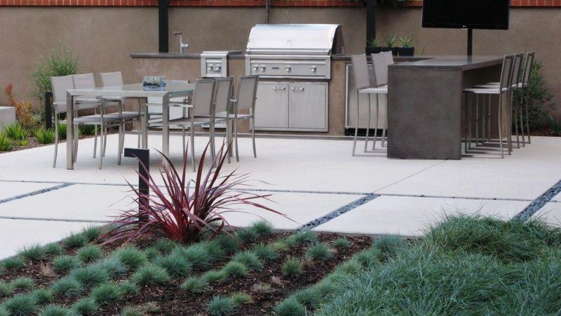 Outdoor Küchen Edelstahl : Moderne outdoor küche mit edelstahl gasgrill outdoorküchen & essen