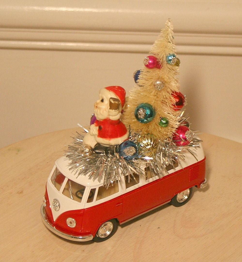 Car interior decoration toys  Image of VW Microbus Gone Vintage Christmas Style  DIY christmas