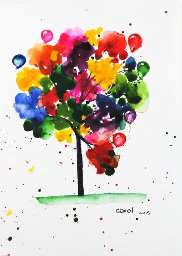 New Card The Blob Tree Art Videos For Kids Watercolor Art