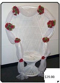 bridal shower chair rental swingasan for sale decorating a peacock wicker of baby quince and