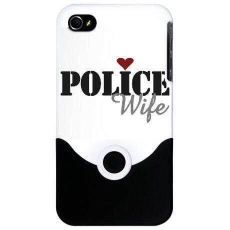 POLICE WIFE iPhone 4 Slider Case