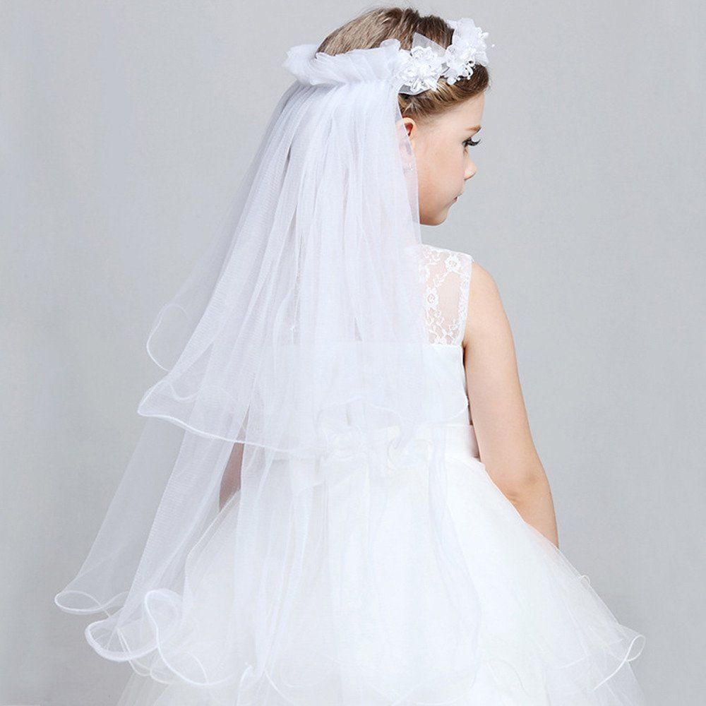 Two Layers  Colors available Long Veils For Flower Girl  Veil