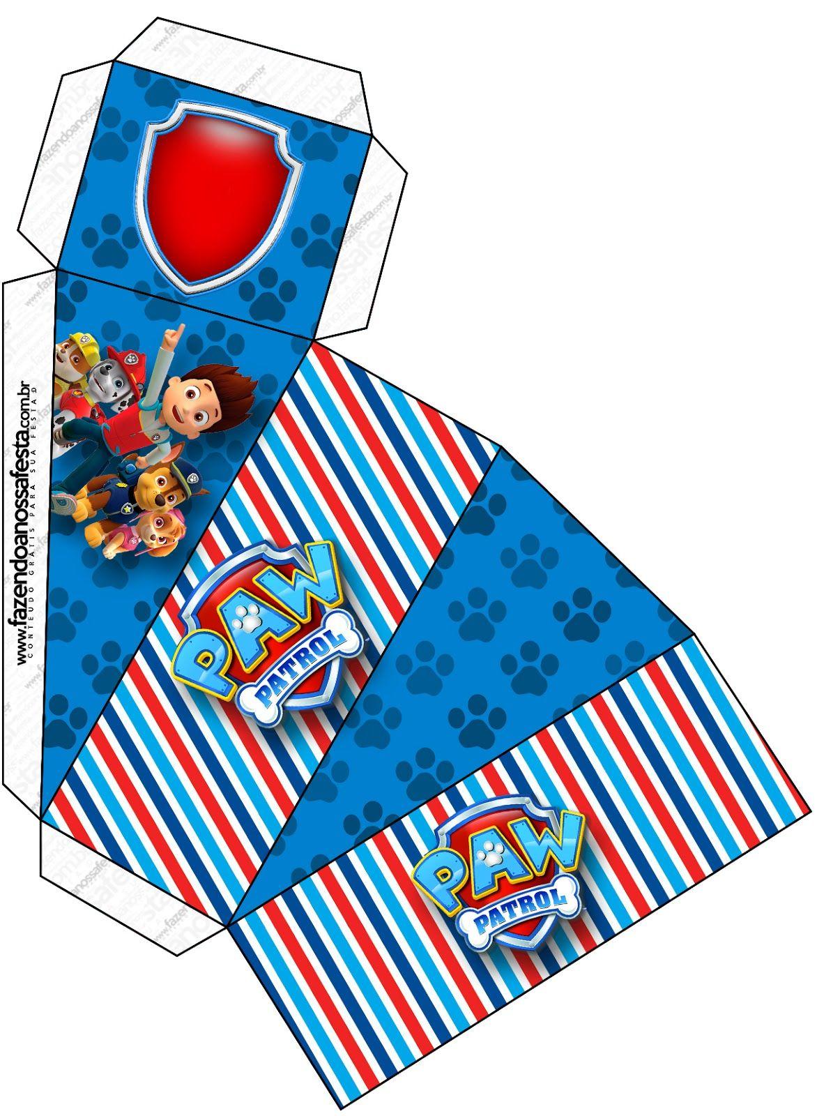 Paw Patrol Free Printable Boxes Cumpleanos Patrulla De La Pata