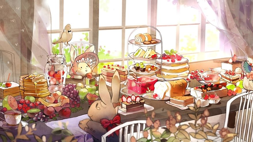 anime food and drinks Tumblr Anime, Food art