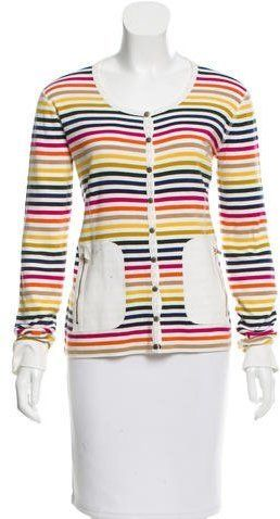 e427312eaba Striped Embellished Cardigan | Products | Knit cardigan, Knitwear ...