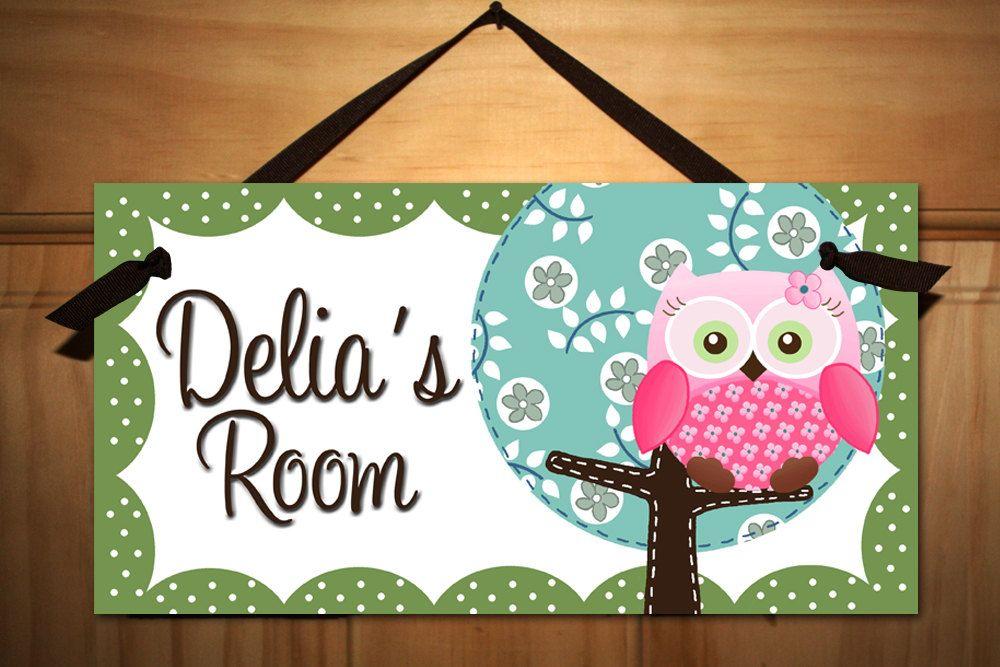 Sweet Little Owl Girls Bedroom and Baby Nursery Kids Bedroom DOOR