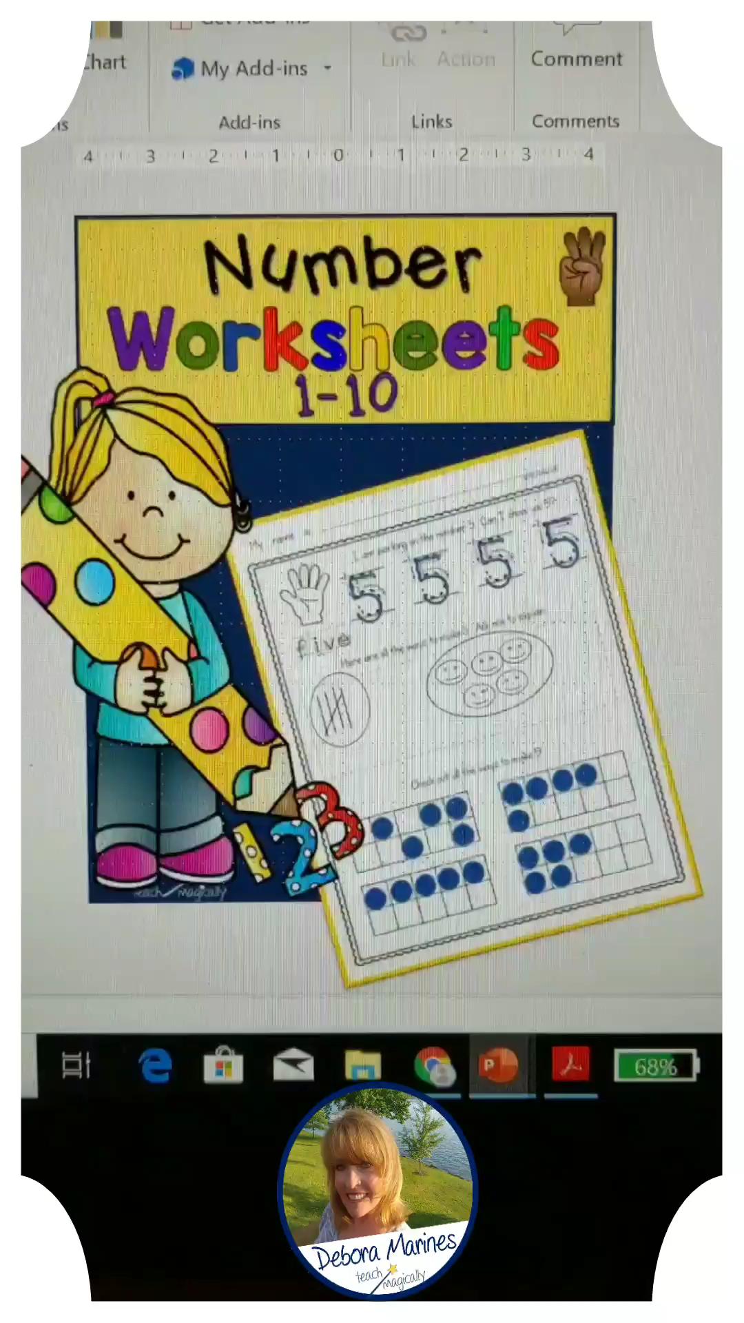 Back To School Numbers 1 10 Worksheets