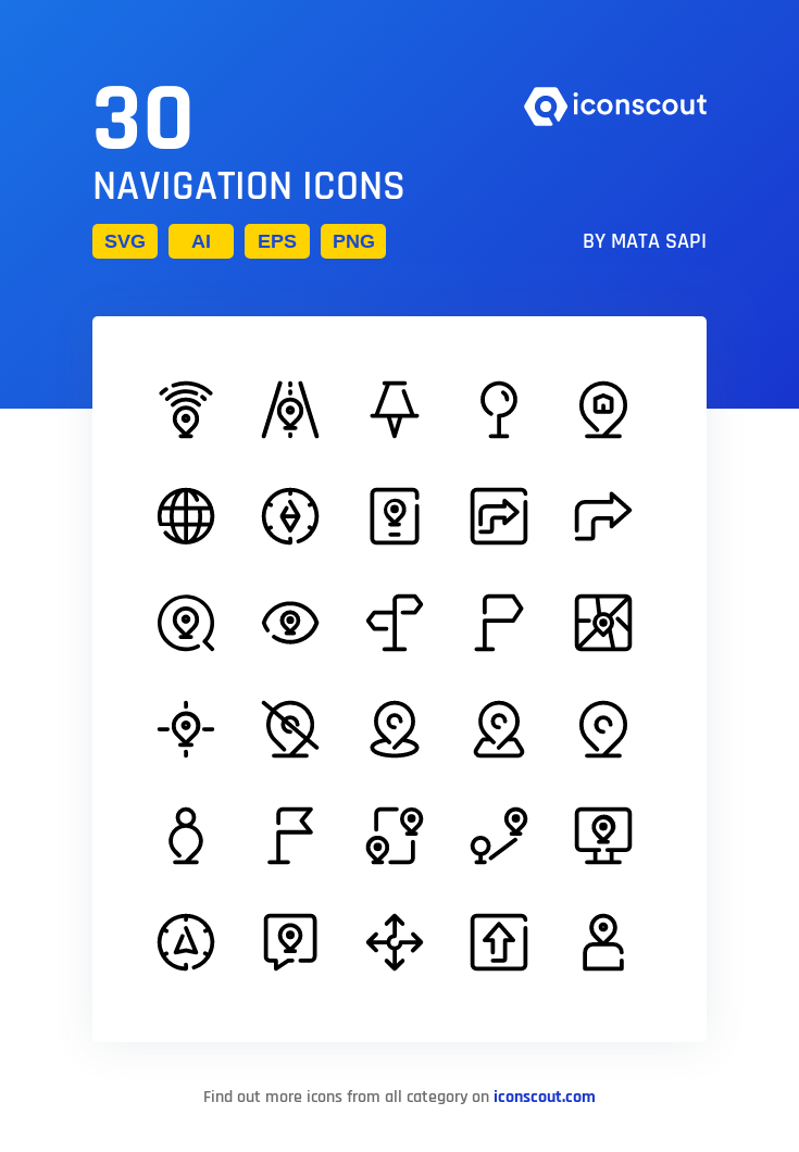 Download Navigation Icon Pack Available In Svg Png Eps Ai Icon Fonts Icon Pack Navigation Icon