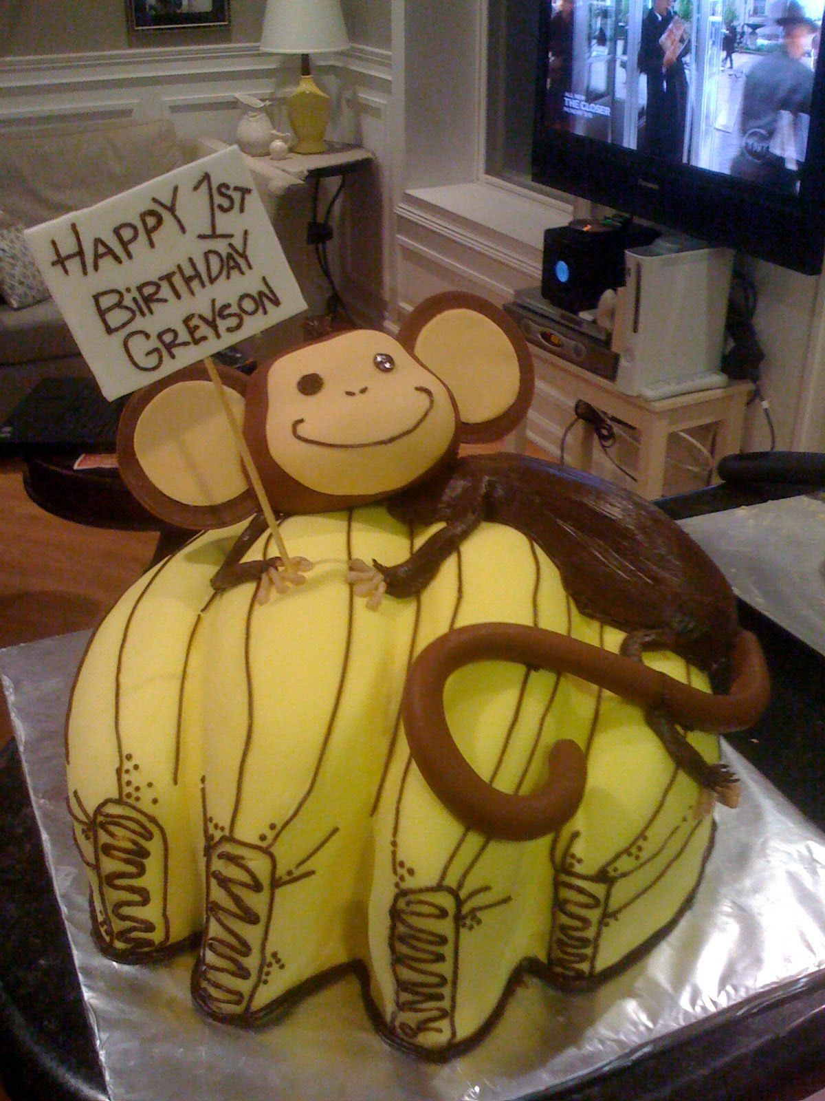 Monkey and Banana Cake | Sugar Squared Cakes: Monkey ...
