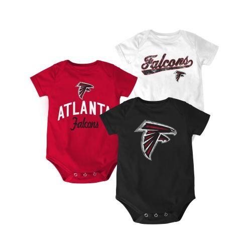 new product 4ed2a 02892 Atlanta Falcons Team Color 3-Pack Creepers | atlanta falcons ...