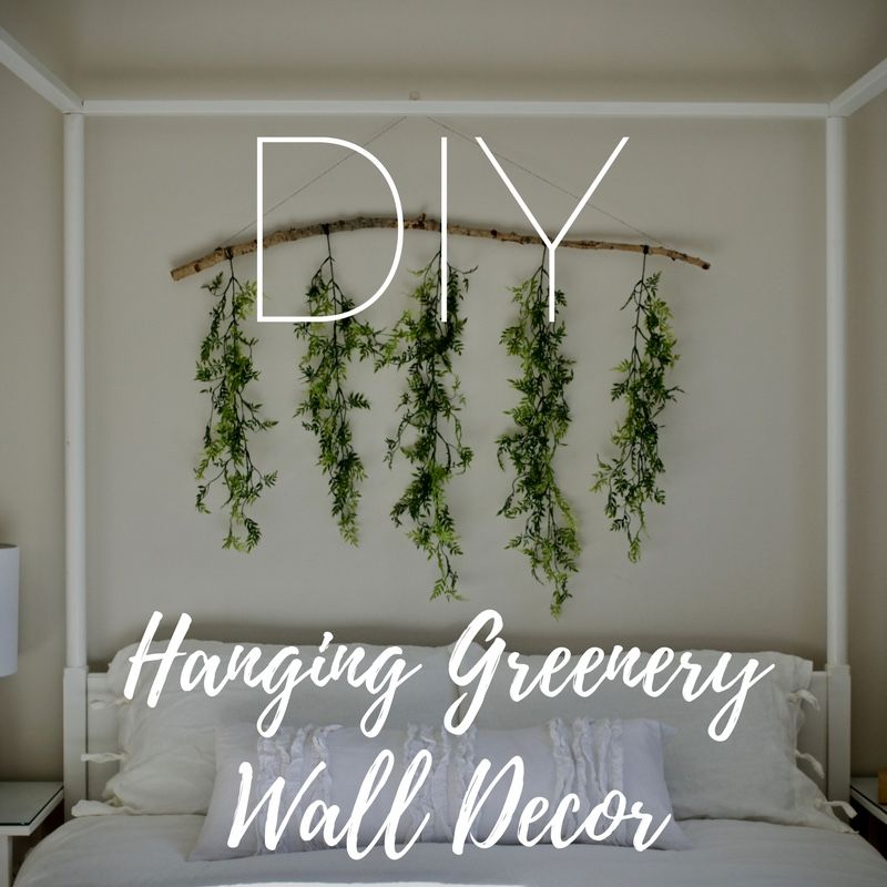 Airy Master Bedroom With Easy Diy Greenery Wall Decor Greenery Wall Decor Diy Wall Decor For Bedroom Wall Decor Master