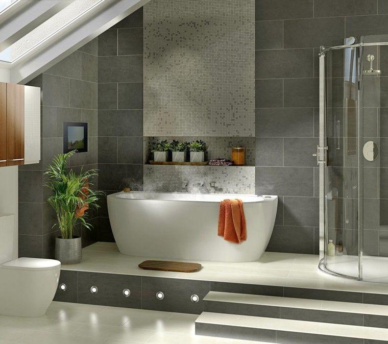 Baño-moderno-con-bañera-4jpg (760×674) baños Pinterest Bañera - Baos Modernos Con Ducha Y Baera
