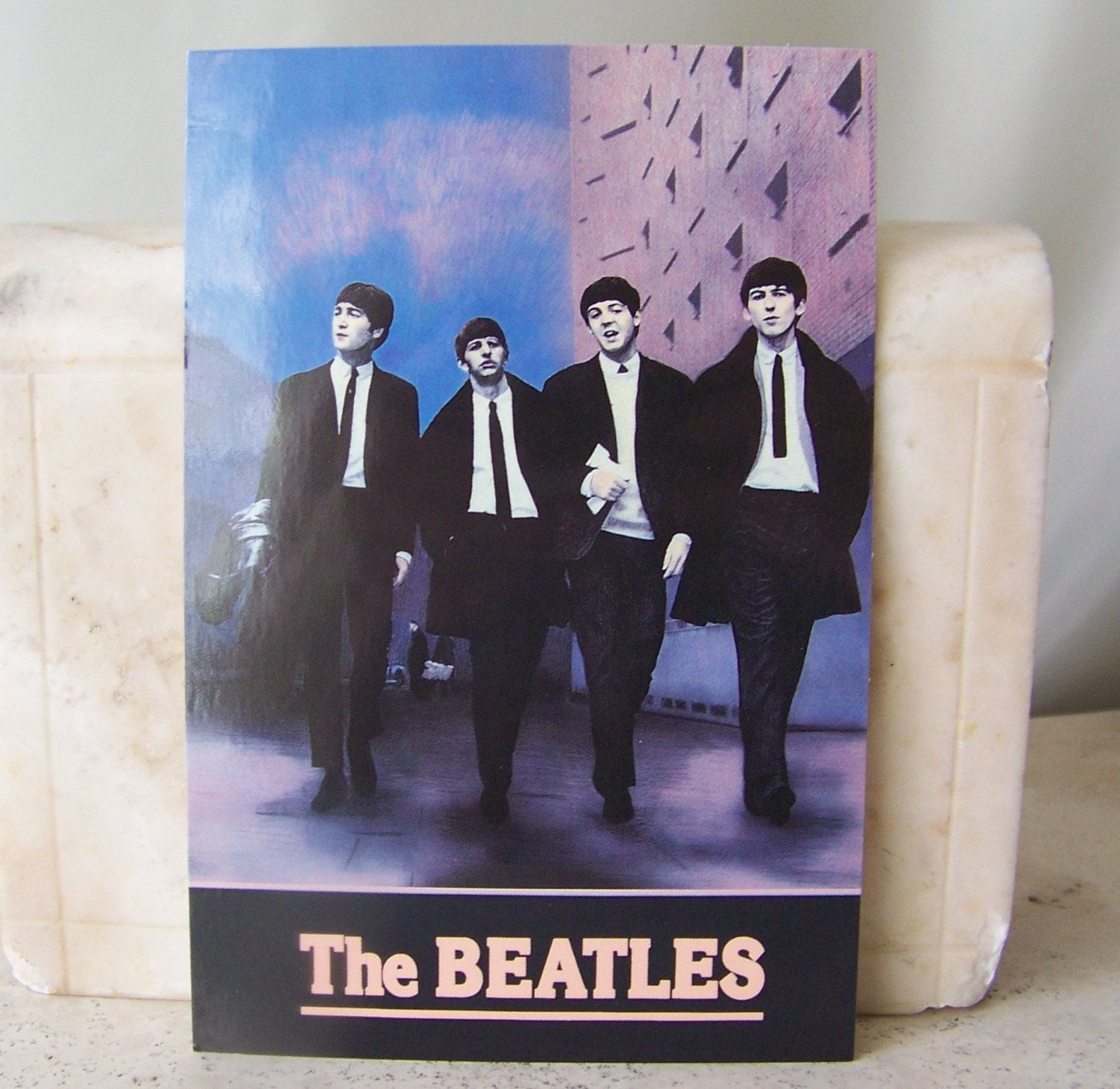 Vintage Beatles Postcard Fab Four Rock Group Beatles Photo Postcard Unused John Paul George Ringo by cynthiasattic on Etsy