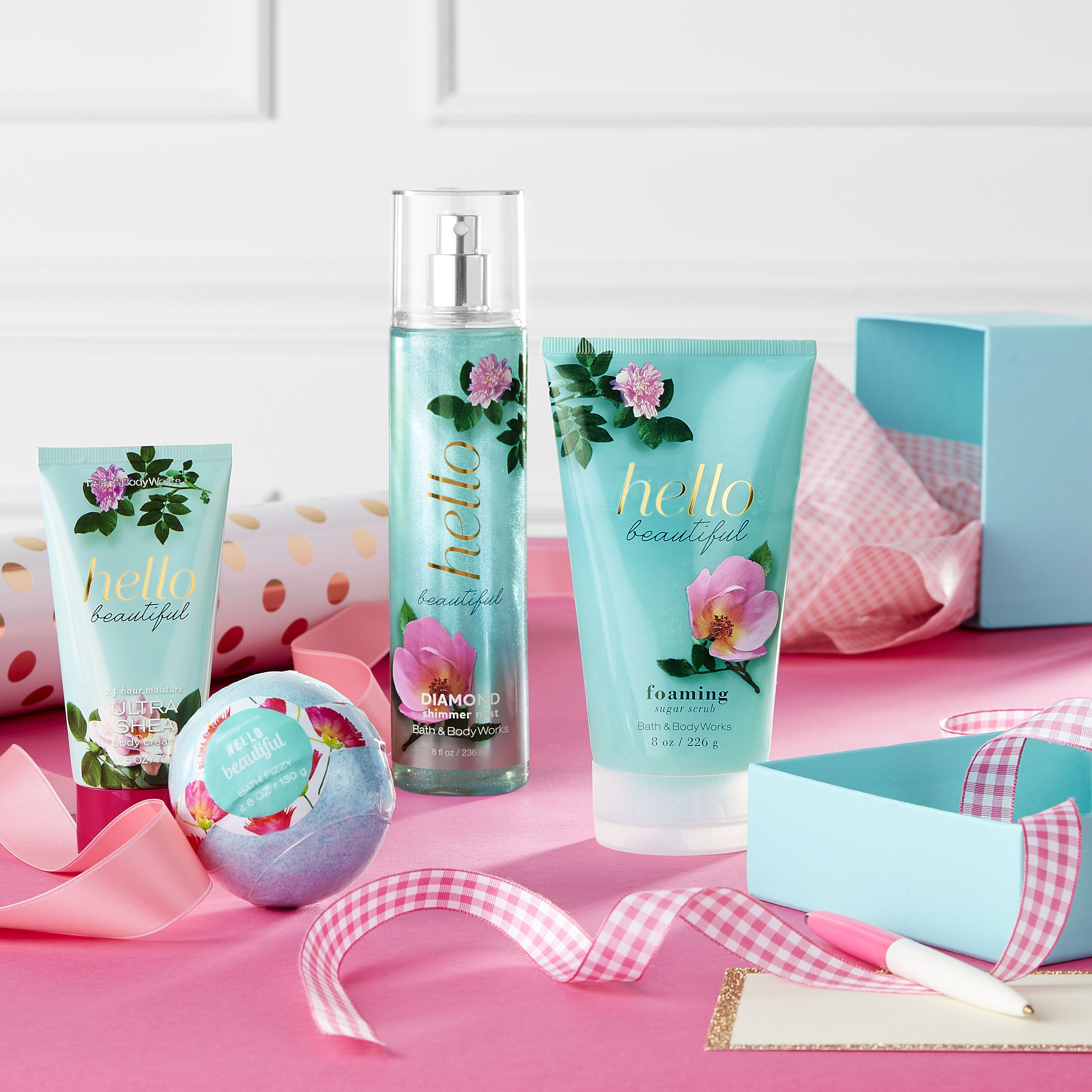 Tell Mom She S Beautiful With A Hello Beautiful Filled Mother S Day Gift Bath N Body Works Bath And Body Works Bath And Bodyworks [ 4113 x 4113 Pixel ]