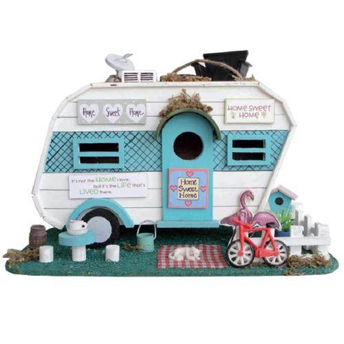 Caravan Home Sweet Home Birdhouse