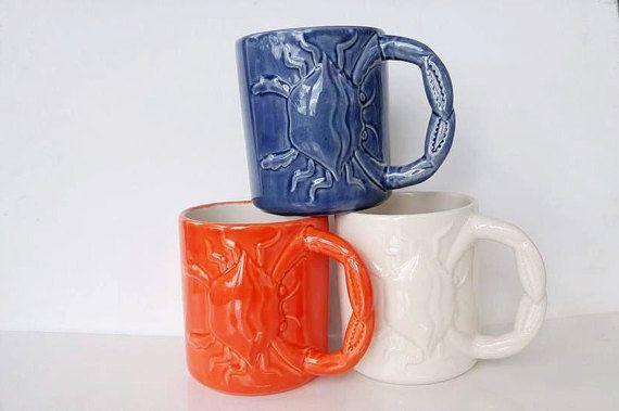 Cancerian crab mugs.  https://www.etsy.com/listing/281127022/crab-mug-handmade-ceramic-from-my