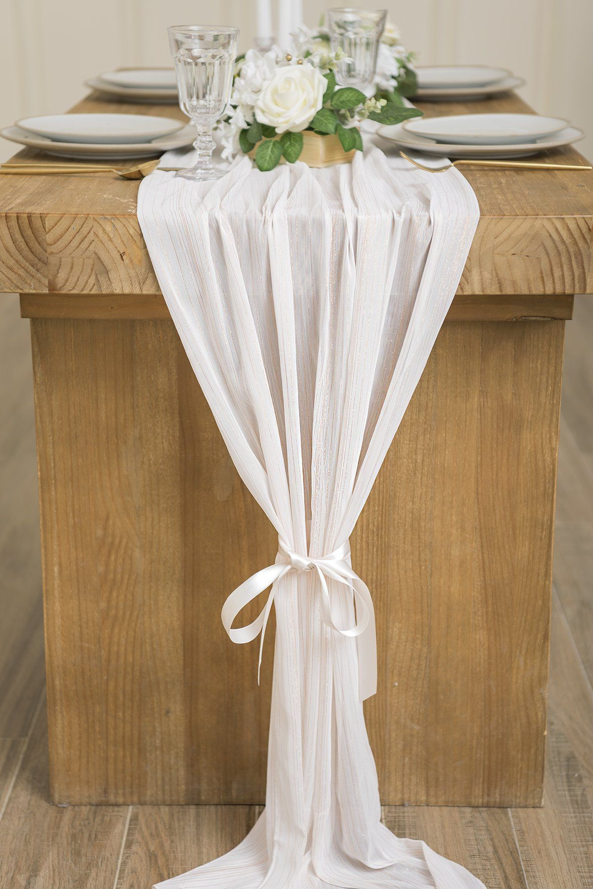 Sheer Chiffon Table Runner 27 Cocktail Table Decor Wedding Table Toppers Lace Table Runners