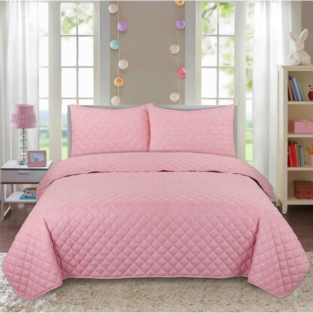 Your Zone Cotton Flannel Quilt Set Twin Twin Xl Polar Pink Walmart Com Walmart Com In 2020 Flannel Quilts Quilt Sets Cotton Flannel