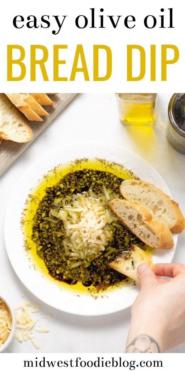 Olive Oil & Balsamic Vinegar Bread Dip #oliveoils